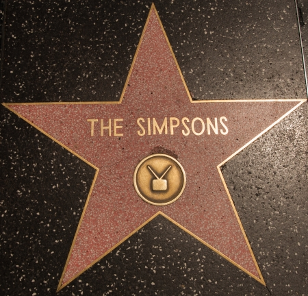 Hollywood Stars The Simpsons in Los Angeles 2013 Editorial