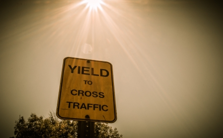 Sign Shield to cross traffic in Beverly Hills photo