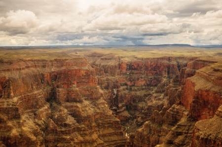 panoramic view in Grand Canyon one of the greatest landscapes in the world photo
