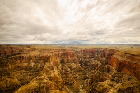 look into Grand Canyon a great panoramic landscape photo