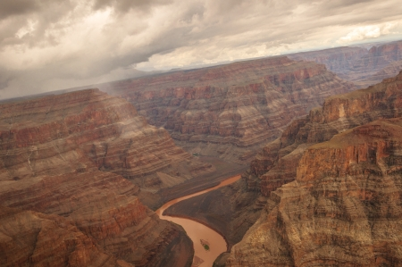 Grand Canyon Heli shooting flight into the colorado valley near las vegas photo