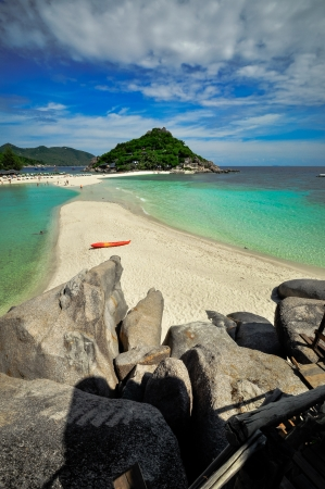 Perfect tropical bay on Koh Nang Yuan, Kho Tao  Island, Thailand , Asia. photo