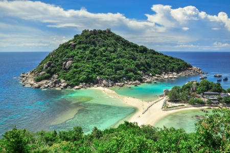 Perfect paradise tropical bay on Koh Tao Island, Thailand , Asia. photo