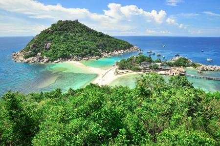 sandbar: Perfect tropical bay on Koh Tao a paradise island in Thailand Asia