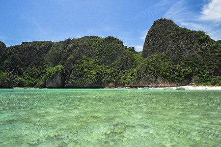 Koh Phi Phi View of Maya Bay island, Thailand Perfect tropical, Asia  photo