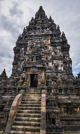 Hindu temple Prombanan complex in Yogjakarta in Java, indonesia photo