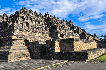Borobudur complex in Yogjakarta in Java, indonesia