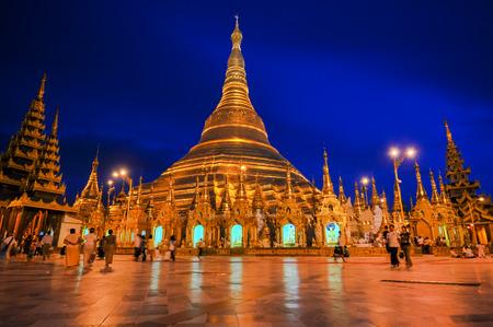 Shwedagon Pagoda Temple in Yangon, Myanmar  Burma