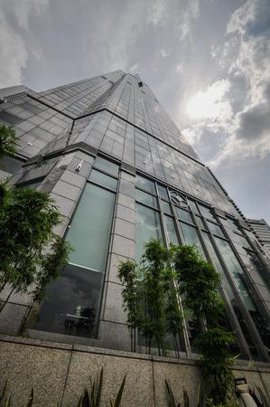 finacial: Singapore skyscraper city skyline finacial district on day