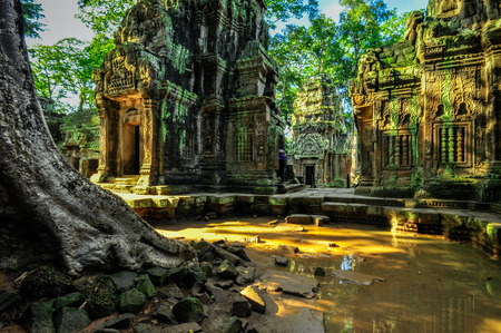 siem: Ancient buddhist khmer temple in Angkor Wat complex, Siem Reap Cambodia Asia