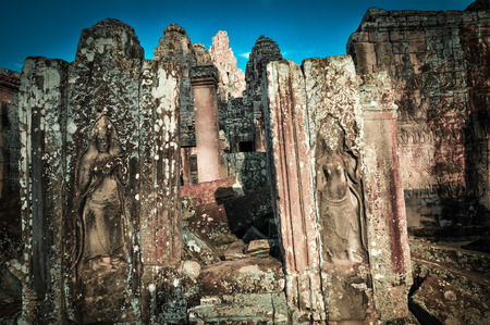 Ancient buddhist khmer temple in Angkor Wat complex, Siem Reap Cambodia Asia
