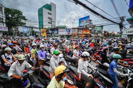 Saigon, Vietnam - June 15: Road Traffic on June 15, 2011 in Saigon (Ho Chi Minh City), Vietnam. Ho Chi Minh is the biggest city in Southern of Vietnam.