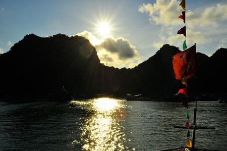 Picturesque sea landscape  Ha Long Bay, Vietnam 2011 photo