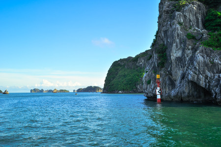 Picturesque sea landscape. Ha Long Bay, Vietnam 2011 photo