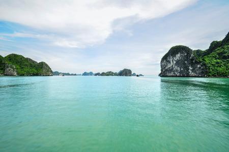 long bay: Picturesque sea landscape. Ha Long Bay, Vietnam 2011 Stock Photo