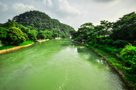 karst: Guillin Seven Star Park and Karst rocks Yangshuo China.