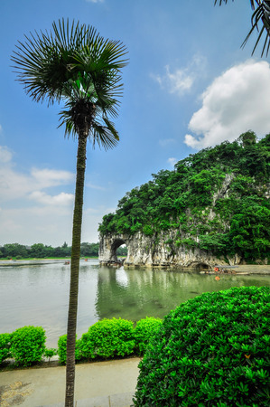 karst: Guillin China Seven Star Park and Karst rocks Yangshuo Stock Photo