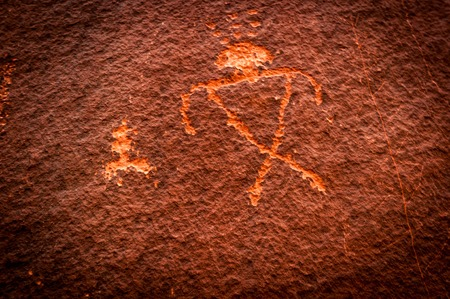 Monument Valley arizona navajo indian wall painting in national park