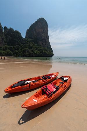 Railay beach in Krabi Thailand pefect vacation kajak tour photo