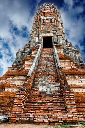 ayuttaya: Old Temple Wat Chai watthanaram in Ancient Ayuttaya,Thailand Stock Photo