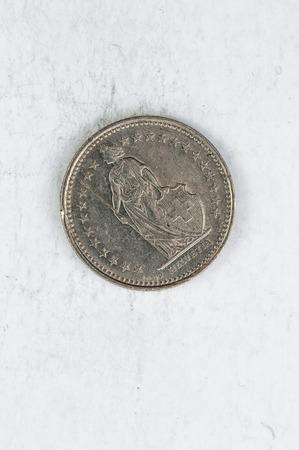 12: 12 Switzerland Franken Coin 1987 silver used look five