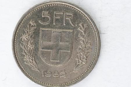coin silver: 5 Switzerland Franken Coin 1965 silver