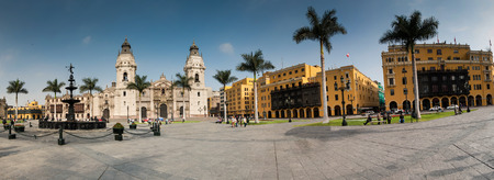 lima: archiepiscopal palace in Lima Peru, south america