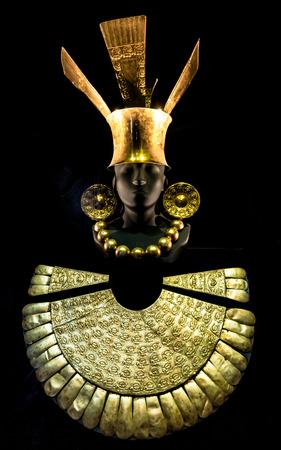 Inca gold jewelry museum in Lima Peru