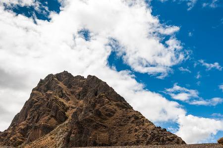 pisac: Terraces of Pisac in Urubamba valley near Cusco (Peru)