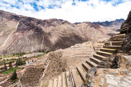urubamba valley: Terraces of Pisac in Urubamba valley near Cusco (Peru) south america