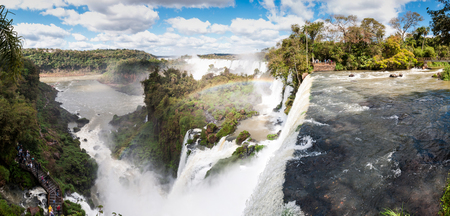 cataract falls: Scenic view of Iguazu waterfalls in Argentina, south america