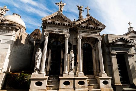 Mausoleum at Cementerio de La Recoleta Buenos Aires, Agentina city metropole, south america Stock Photo