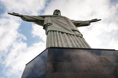soul searching: Corcovado Hill in Rio de Janeiro, Brazil Stock Photo