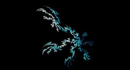 iceflower: abstract Ice crystals illustration on black background