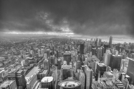 chicago city: Aerial view of Chicago city USA Stock Photo