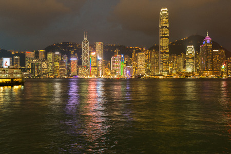 habour: Hong Kong, China skyline panorama from across Victoria Habour