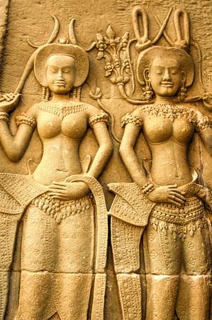 hinduism: Angkor Wat temple, Siem Reap, Cambodia Hinduism Khmer culture buildings Foto de archivo
