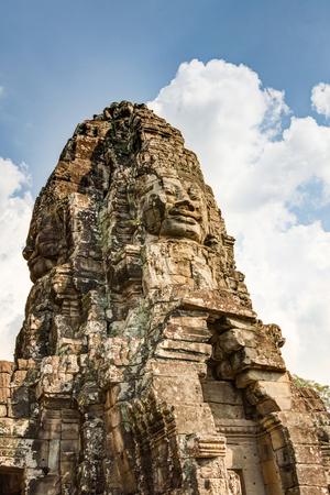 reap: Prasat Bayon Khmer temple, Angkor Thom, Siem reap, Cambodia