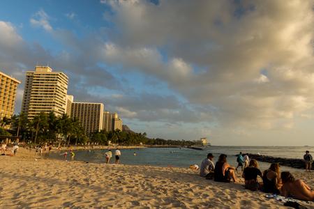 wideangle: Wakiki Beach in Honolulu