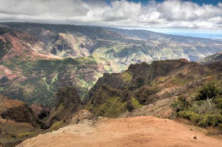 kauai: Kauai Mountains on the tropical paradise island of Kauai, Hawaii Stock Photo