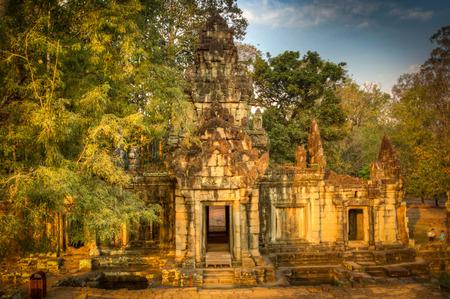 Angkor Wat temple, Siem Reap, Cambodia Hinduism Khmer culture buildings Stock Photo