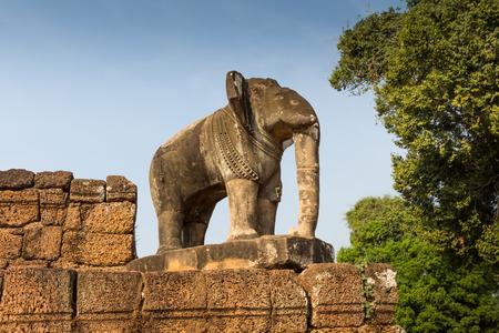 hinduismo: elefante de templo de Angkor Wat, Siem Reap, Camboya edificios de cultivo Hinduismo Khmer