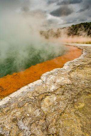 Wai-O-Tapu near Rotorua, New Zealand geology geothermal