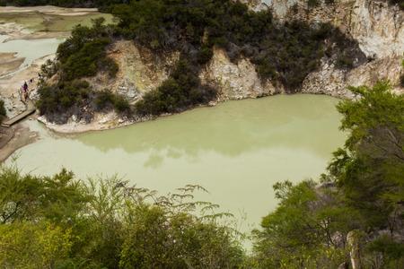 geothermal: Wai-O-Tapu near Rotorua, New Zealand geology geothermal