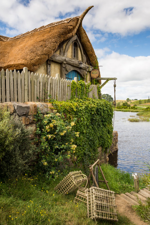 bilbo: HOBBITON home of the HOBBIT movie and LORD OF THE RINGS 2016 on FEBRUARY 04, 2016 in Matamata, New Zealand 2016 Editorial