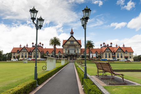 Rotorua city, North island of New Zealand museum 2016