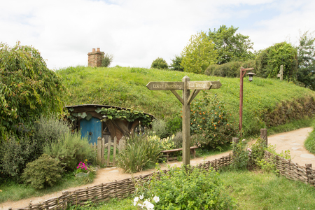 holiday movies: HOBBITON home of the HOBBIT movie and LORD OF THE RINGS 2016 on FEBRUARY 04, 2016 in Matamata, New Zealand 2016 Editorial