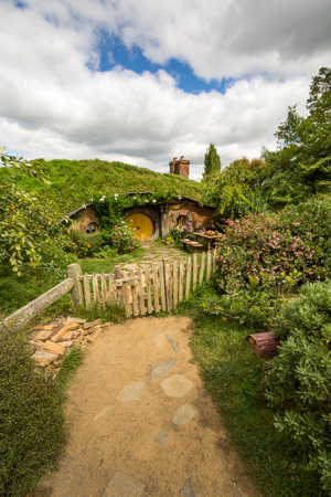 holiday blockbuster: HOBBITON home of the HOBBIT movie and LORD OF THE RINGS 2016 on FEBRUARY 04, 2016 in Matamata, New Zealand 2016 Editorial