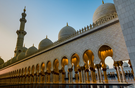 Abu Dhabi Sheikh Zayed Grand Mosque UAE