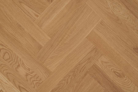 Oak unfinished parquet laid in a pattern double herringbone Stock Photo